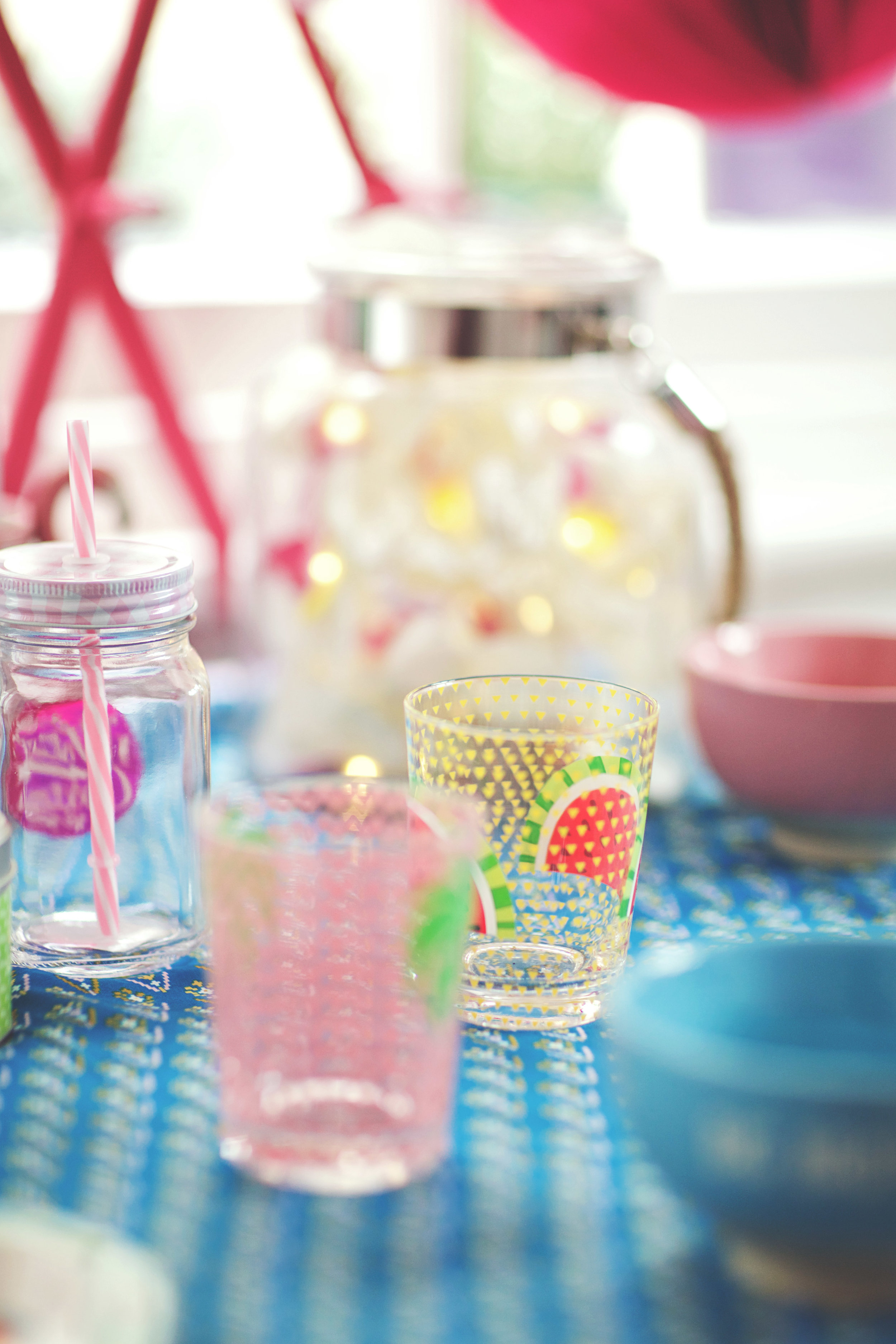 Watermelon Glass: £2.50 // Glass Vase: From £17.00 // Orchid Flower Lights: £10.00
