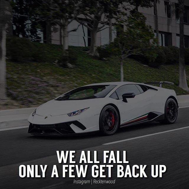 The great always get back up.