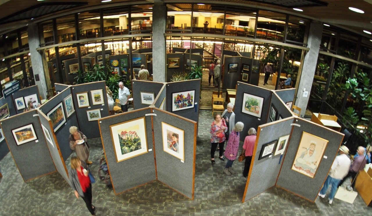 November 2019 Open Show entries displayed in the Huntington Beach Library's Windows Gallery.