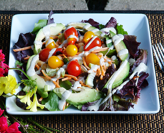 Lover's Salad with Rockin' Ranch Dressing