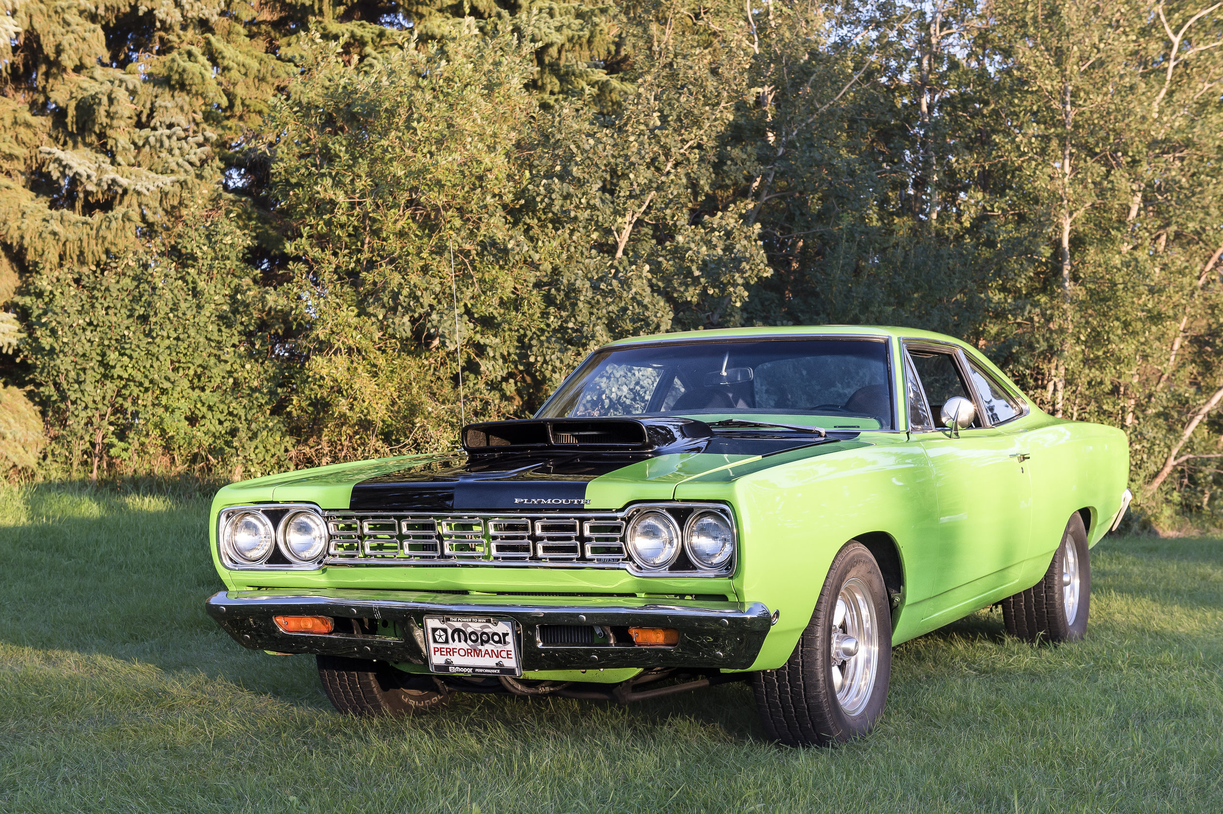 """1968 Plymouth Belvedere GTX Clone      440 Engine with a 727 Automatic Transmission and  Gear vendors overdrive. The car also has an 8-3/4"""" Rear Diff.  This Car is locally owned and driven. You can see it and more at Just Kruzin Kruz nights"""