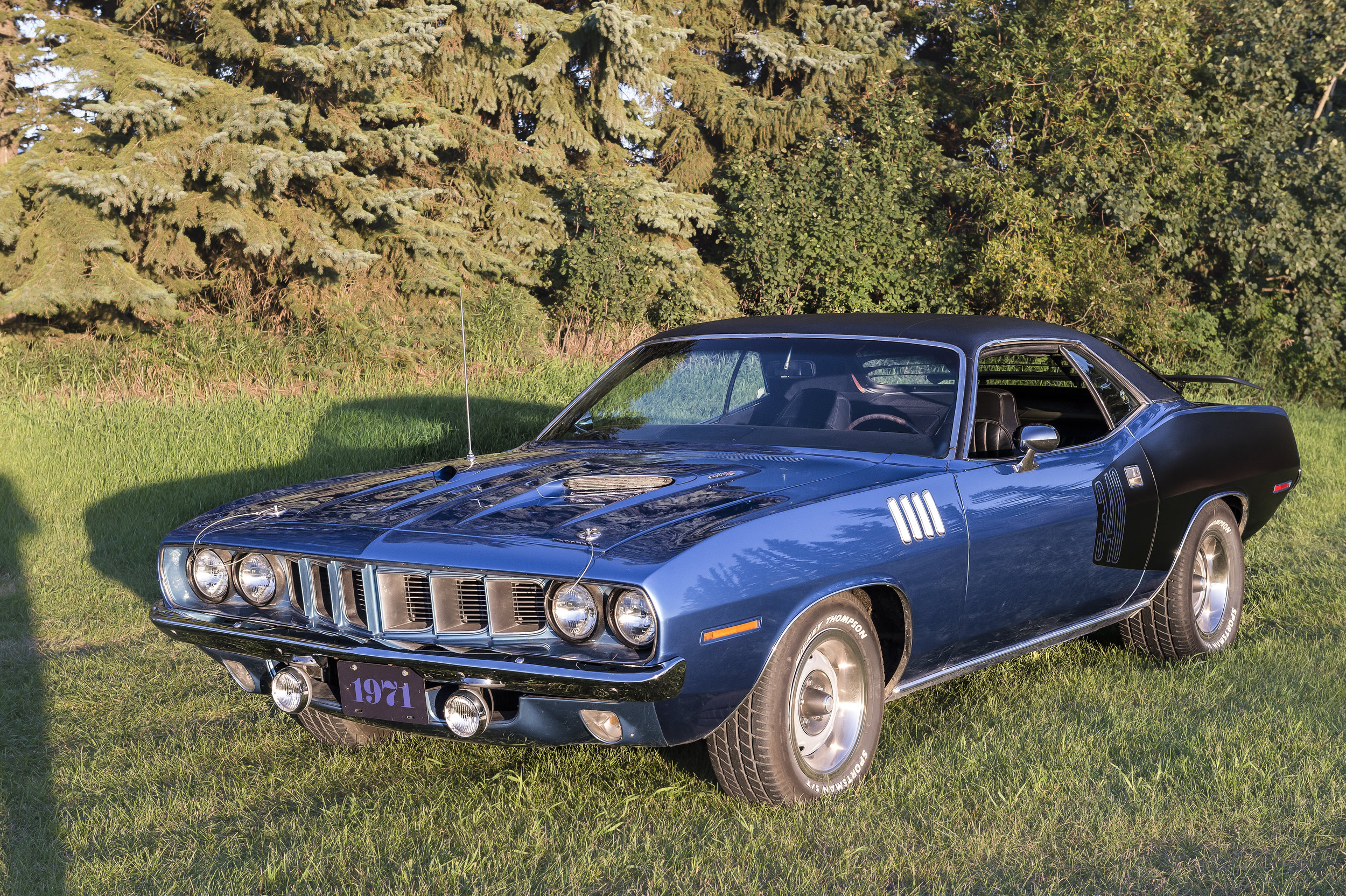 """1971 Plymouth Cuda   340 Engine with a 4 speed standard transmission. 8-3/4""""Rear Diff.This car is locally owned and driven. You will see it and more at Just Kruzin Kruz nights"""