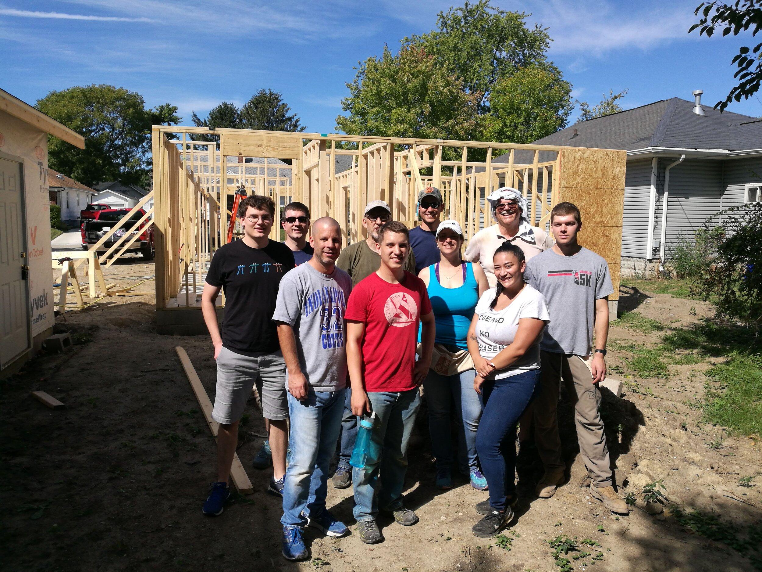 2019 Habitat Build - Volunteers from RPC on the Habitat worksite.