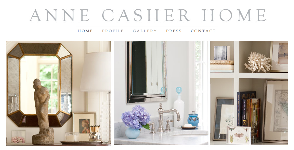 Anne Casher Home - Website Design