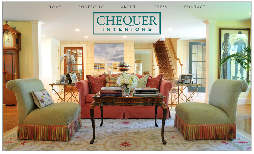 Chequer Interiors - Website Design