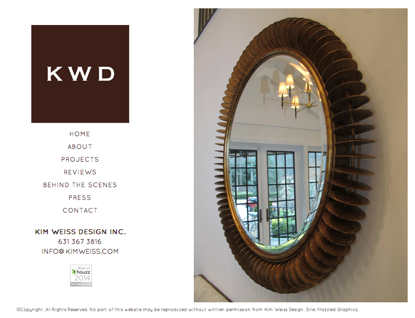 Kim Weiss Interior Design - Website Design