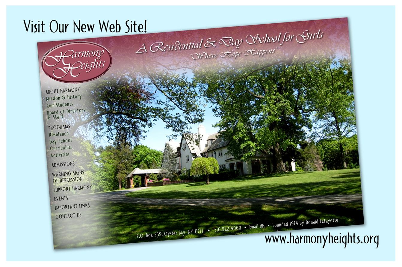 Harmony Heights - Postcard Design