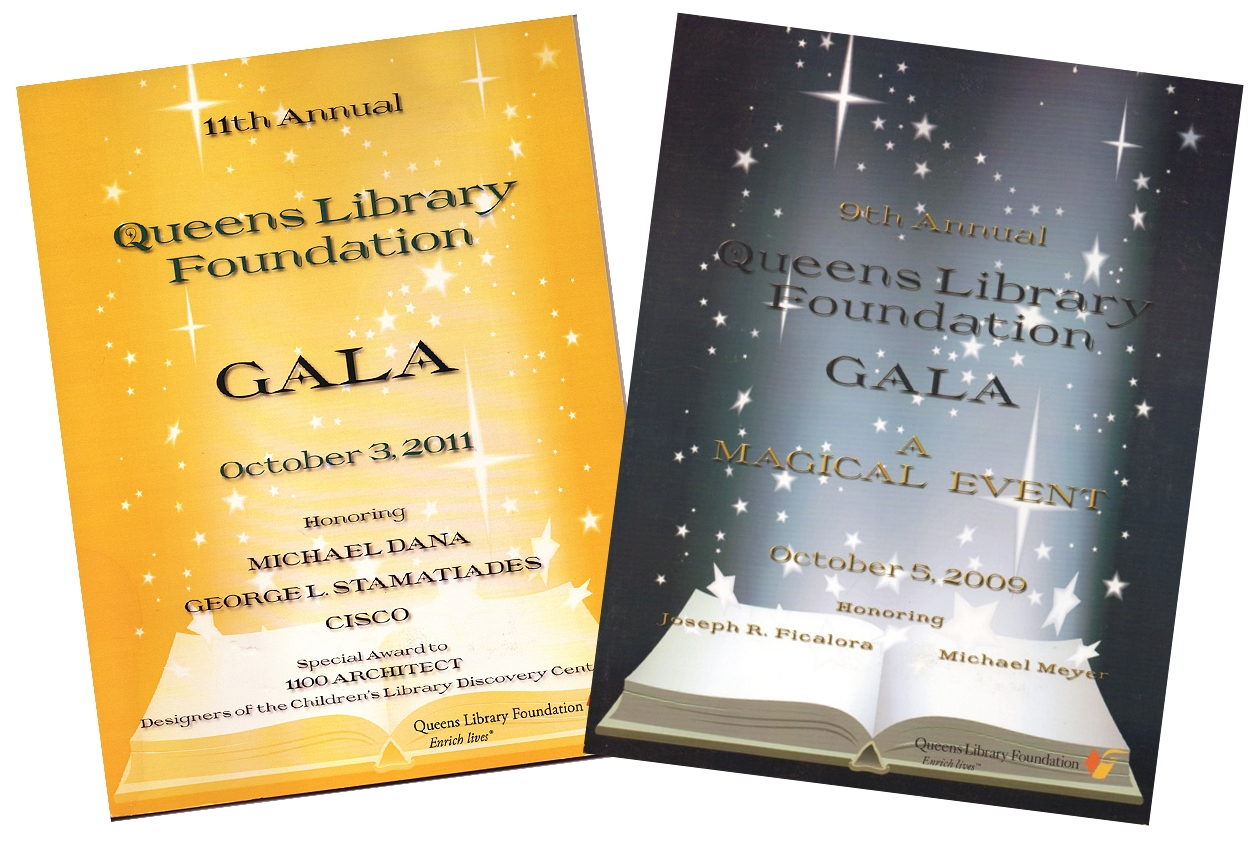 Queens Library Foundation Gala - Event Journal Design