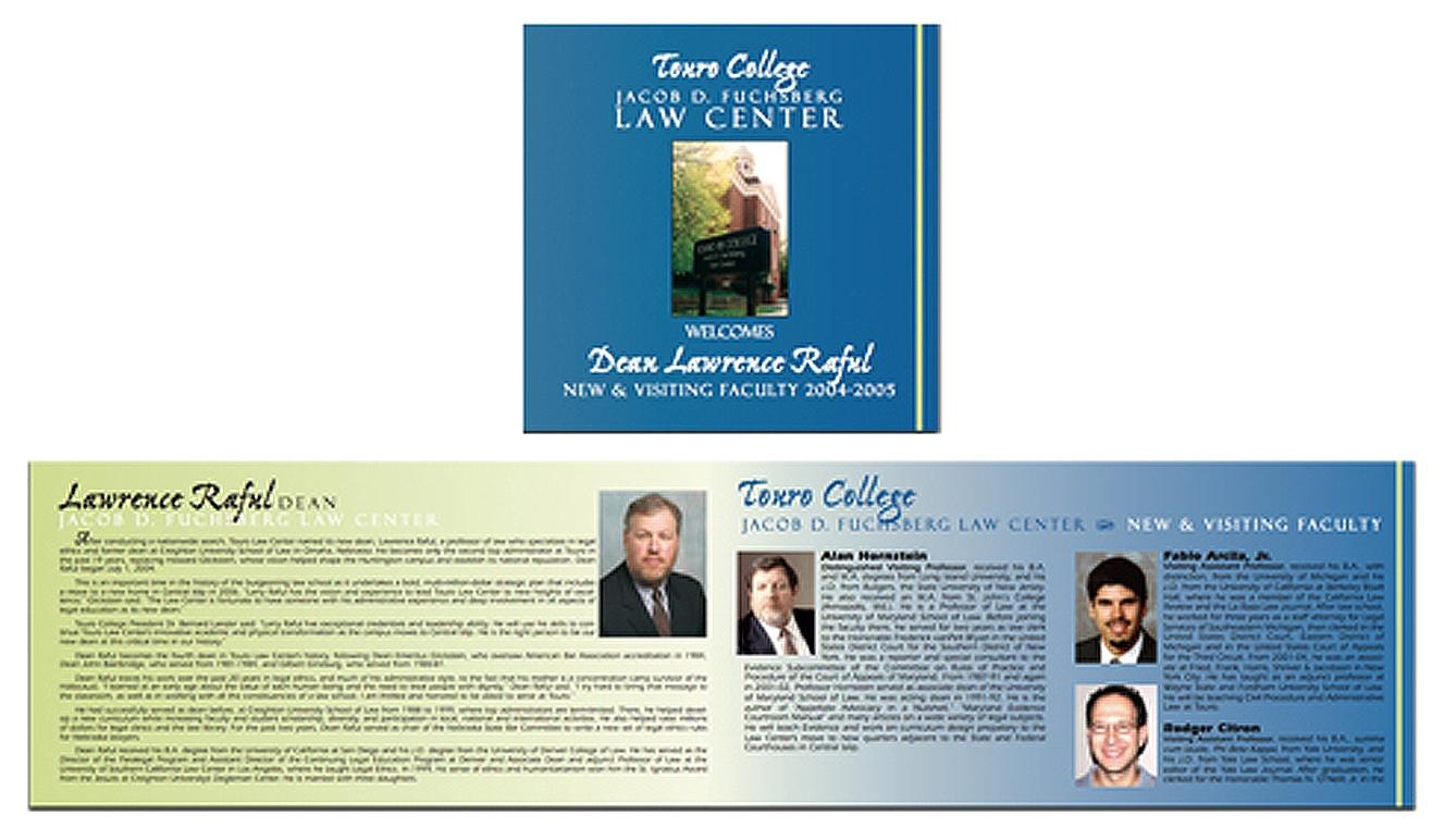 Touro Law School - Brochure Design