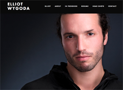 Elliot Wygoda Actor - Website Design