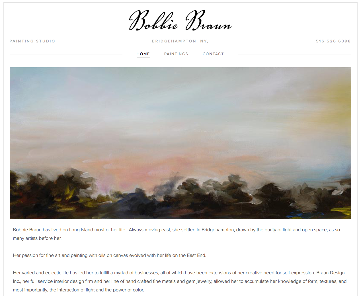 Bobbie Braun Painter - Website Design