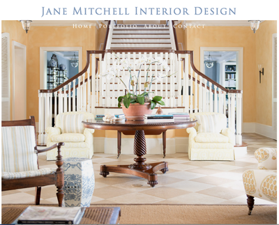 Jane Mitchell Interior Design - Website Design