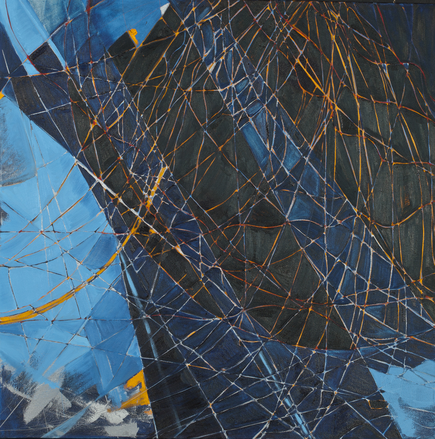 "Blue meridian, 2014, oil on canvas, 42""x42"""