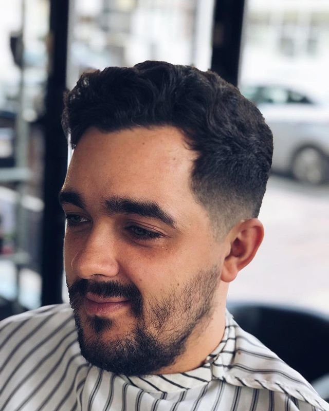 ✂️.5 fade up - messy swept over on top 💈@getyourgoujon . . . . . . #barber #barbershop #barberlife #haircut #beard #hairstyle #fade #barbergang #barberlove #menstyle #beardlife #razor #barberstyle #mensstyle #barbering #menshair #skinfade #manchester #mcr #barbersmanchester #manchesterbarbers #barbers #keepitclose #essentials #cutthroat #shave #cutthroatshave #freshtrim #closemalegrooming