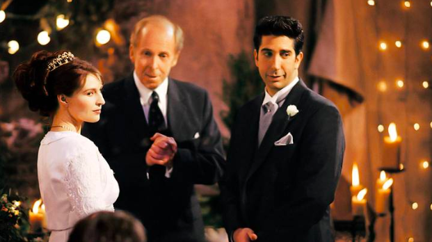 """The One with the Wrong Name  Ross & Emily,  Friends   There is certainly no love lost for Emily among """"Friends"""" fans. Yet, her unfortunate nuptials with Ross could have gone much more smoothly, whether or not Ross managed to say the right name. Their venue was destroyed, the couple argued, and Ross haggled with his new in-laws over the price of the ceremony. Yikes!  There are so many ways to curb these issues ahead of time! Our wedding planners maintain constant communication with vendors and venues to make sure they are ready for the big day. Communication is especially important for destination weddings and maintaining a budget! With our help, Ross and Emily could have managed expenses and kept Ross from bargaining with his new in-laws."""
