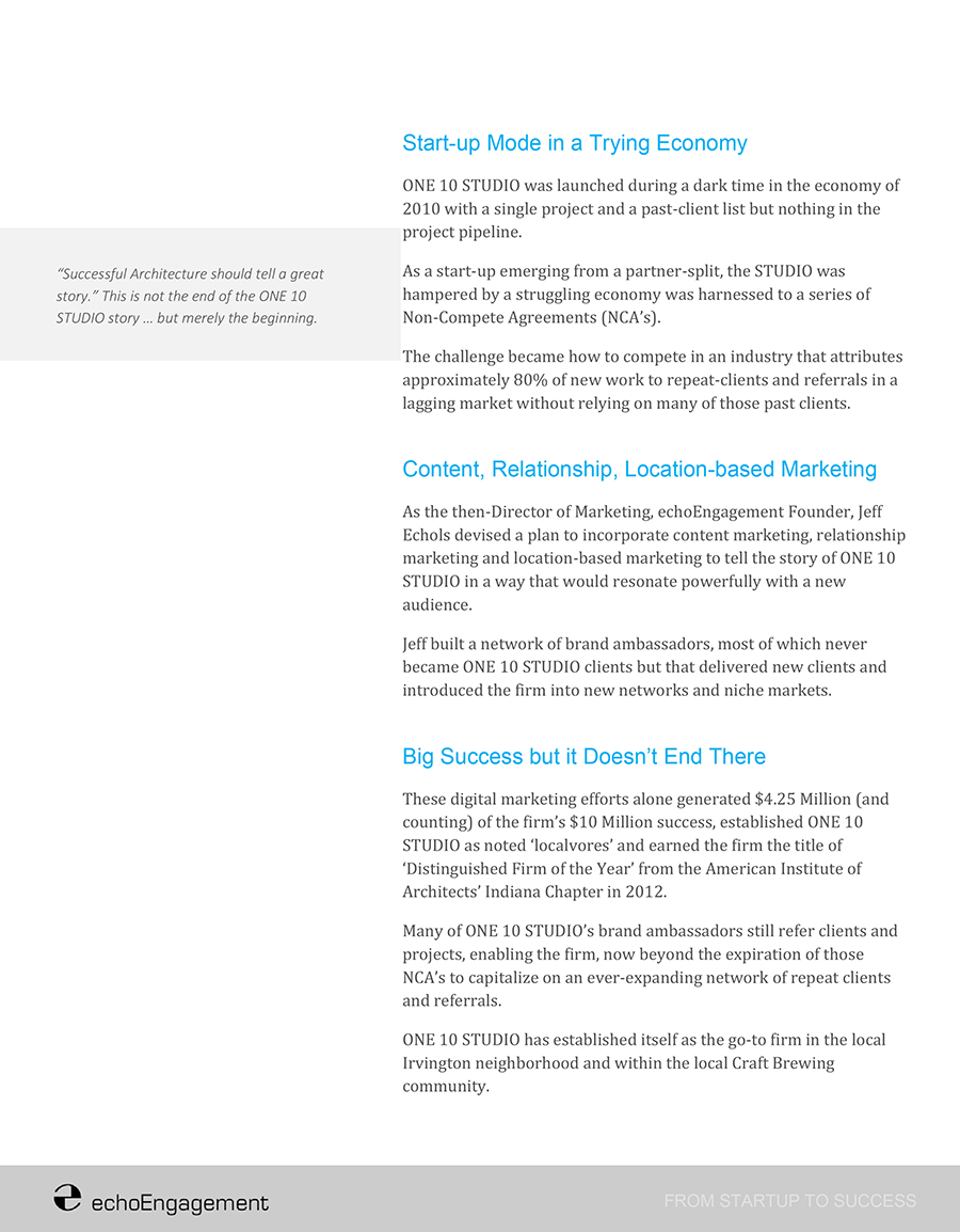 Case Study - Architecture Marketing Page 2