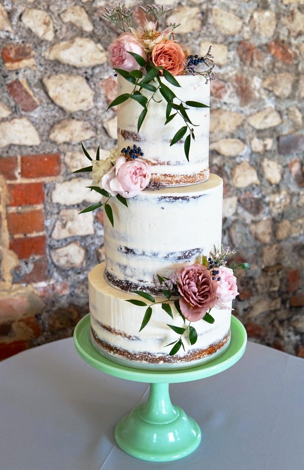 farbridge semi naked wedding cake brighton sussex