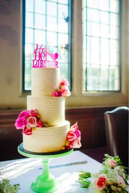 Buttercream wedding cake Brighton Sussex