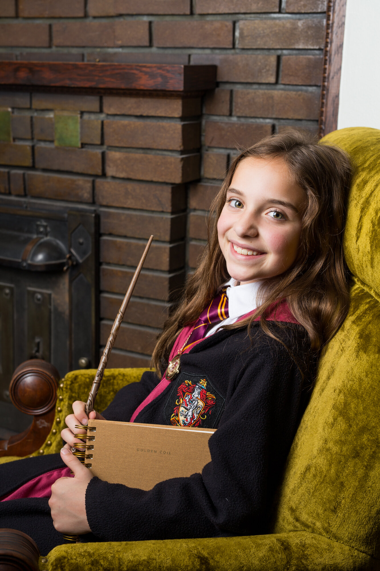 Hermione with her Golden Coil Planner