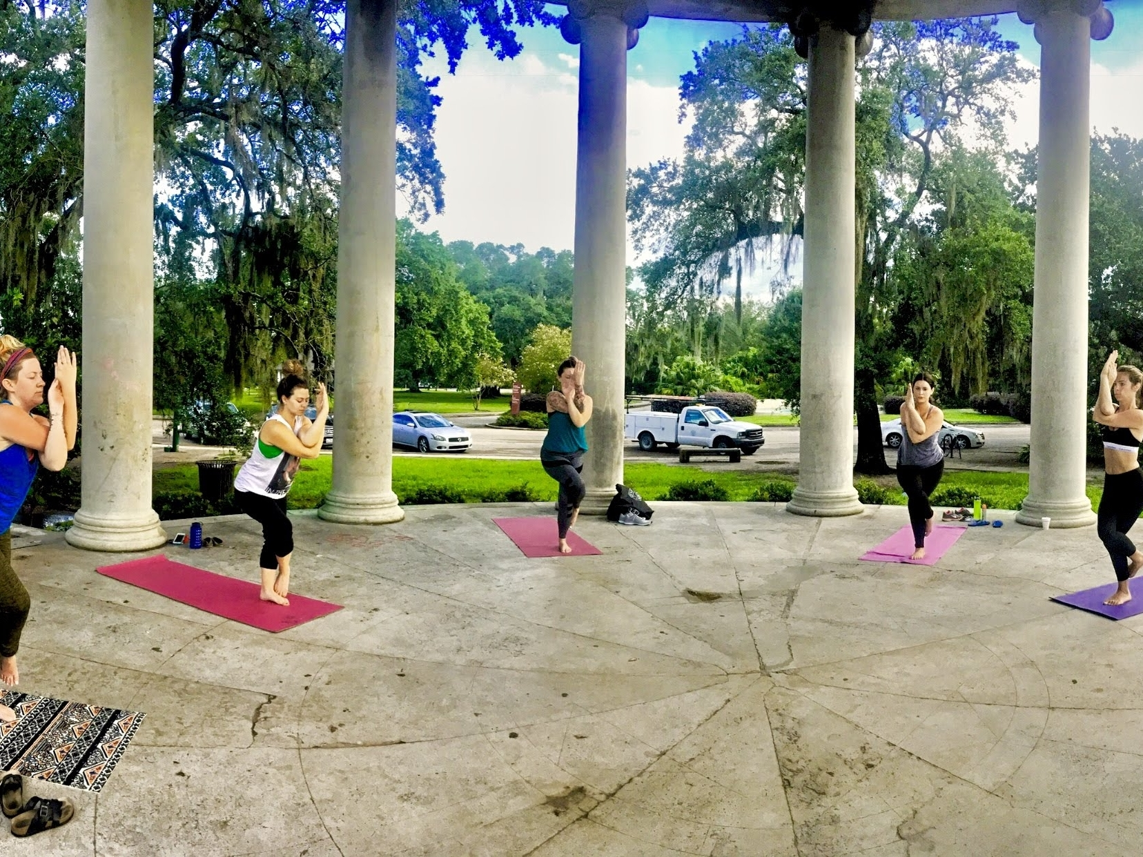 Wednesdays in City Park - Join us for sunrise yoga at the most beautiful park in the city, under the Peristyle. Kaitlyn will lead a 55-minute challenging, friendly, and fun, all-levels donation-based flow every Wednesday morning at 6:30AM underneath the Peristyle (42 Dreyfous Drive) in City Park!.Google Map: Here