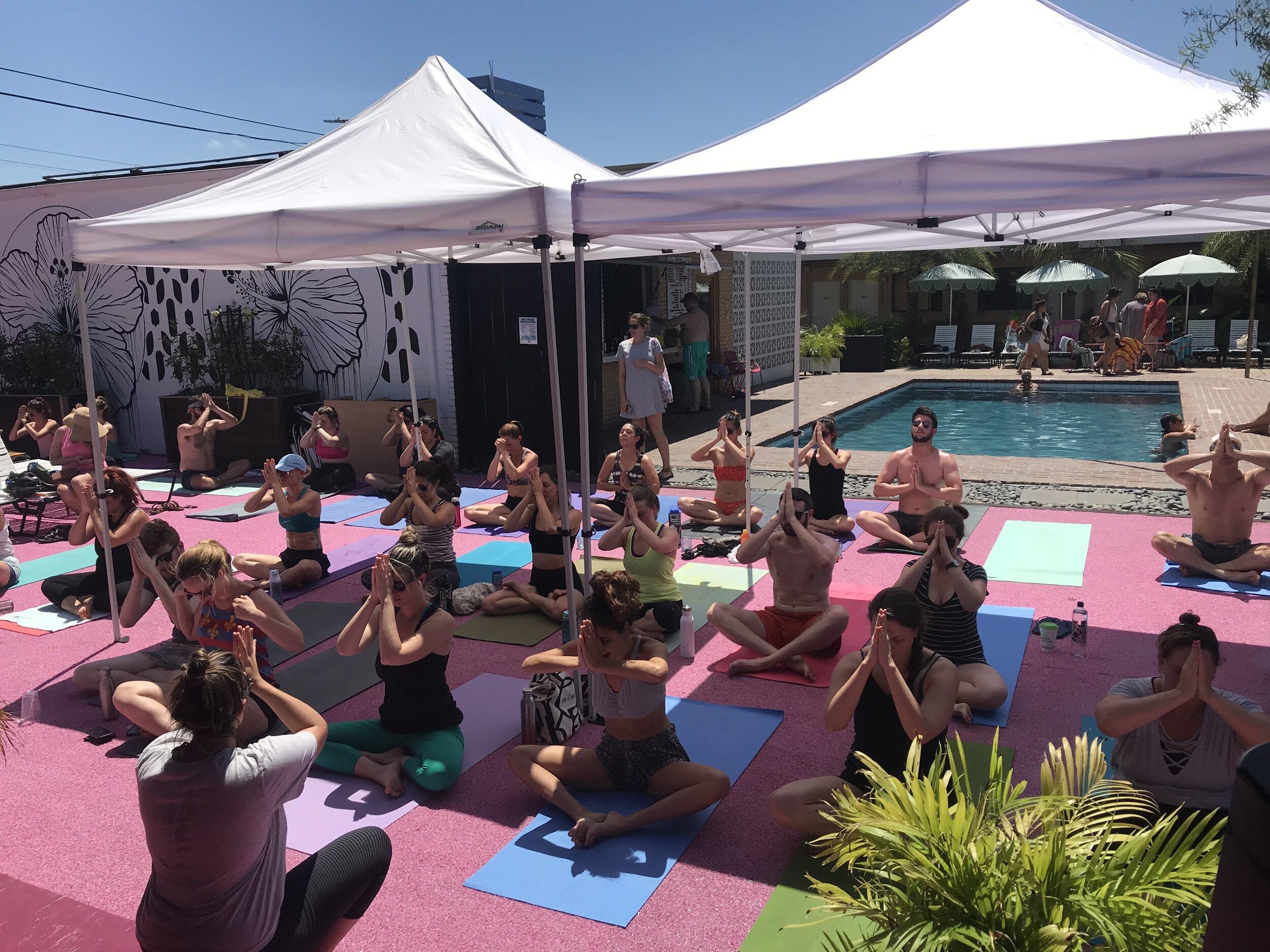 NOLA Tribe Yoga Retreat: Pool Party Yoga!