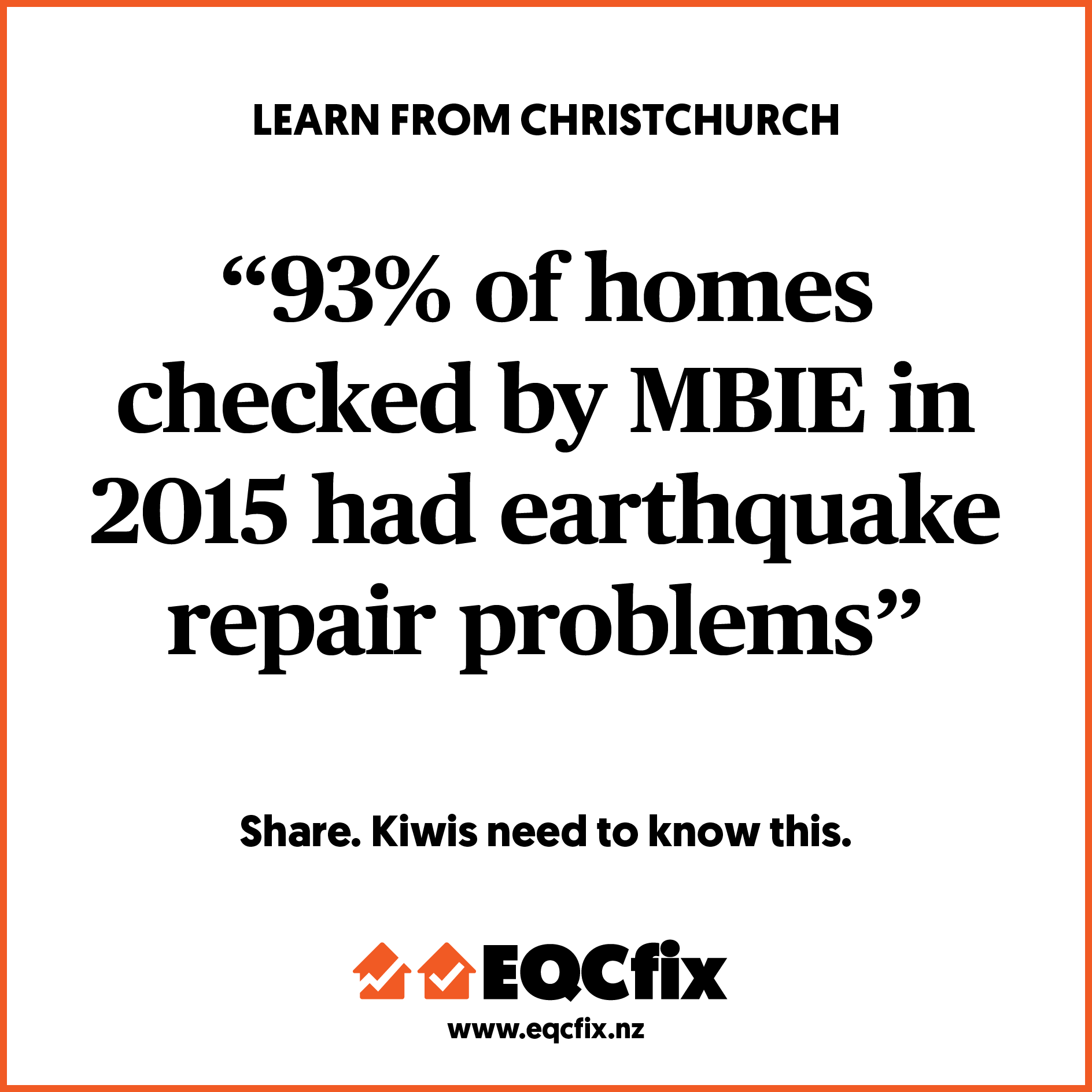 93% OF HOMES CHECK BY MBIE HAD EARTHQUAKE REPAIR PROBLEMS