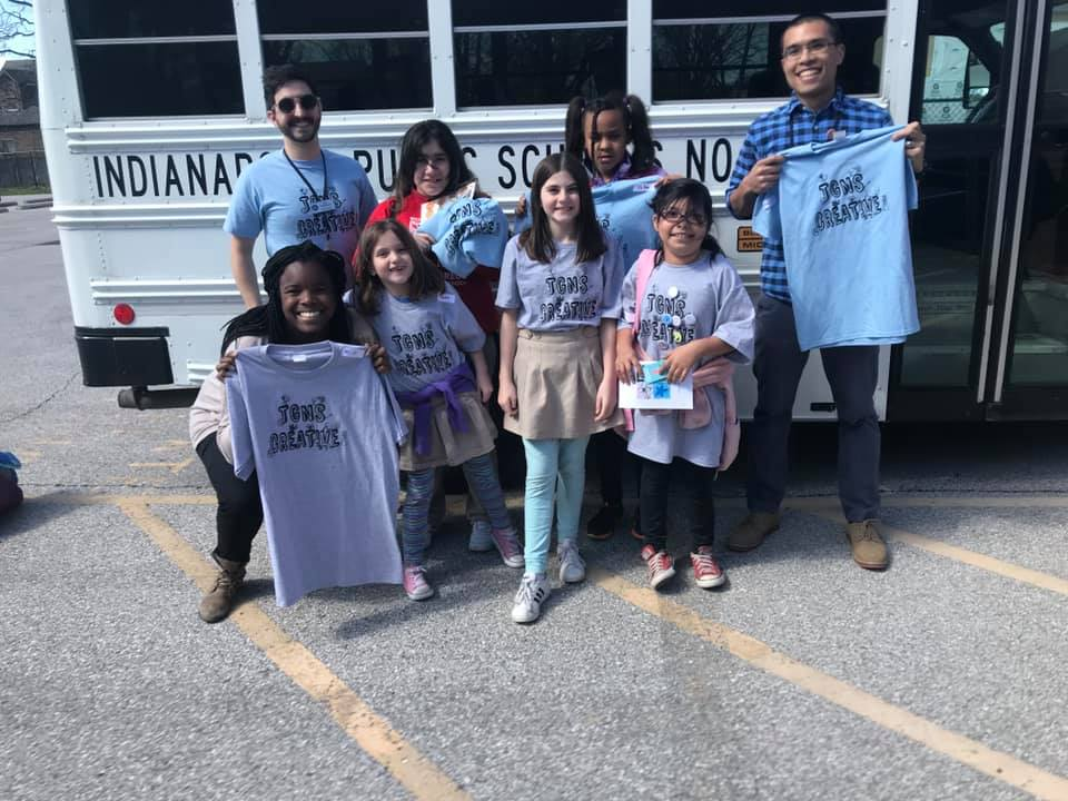 Art Club collaborated to make group t-shirts and custom pins.