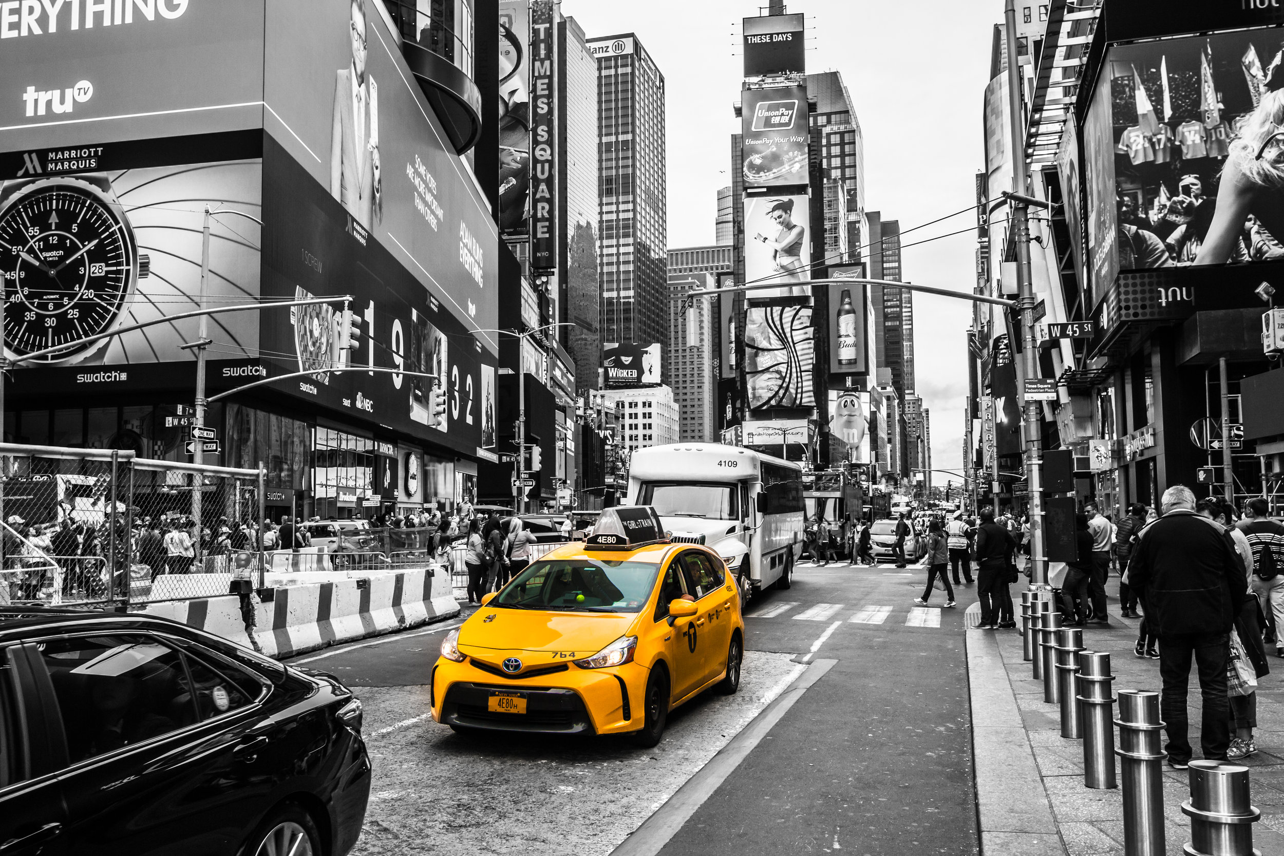 The hustle and bustle of Times Square!