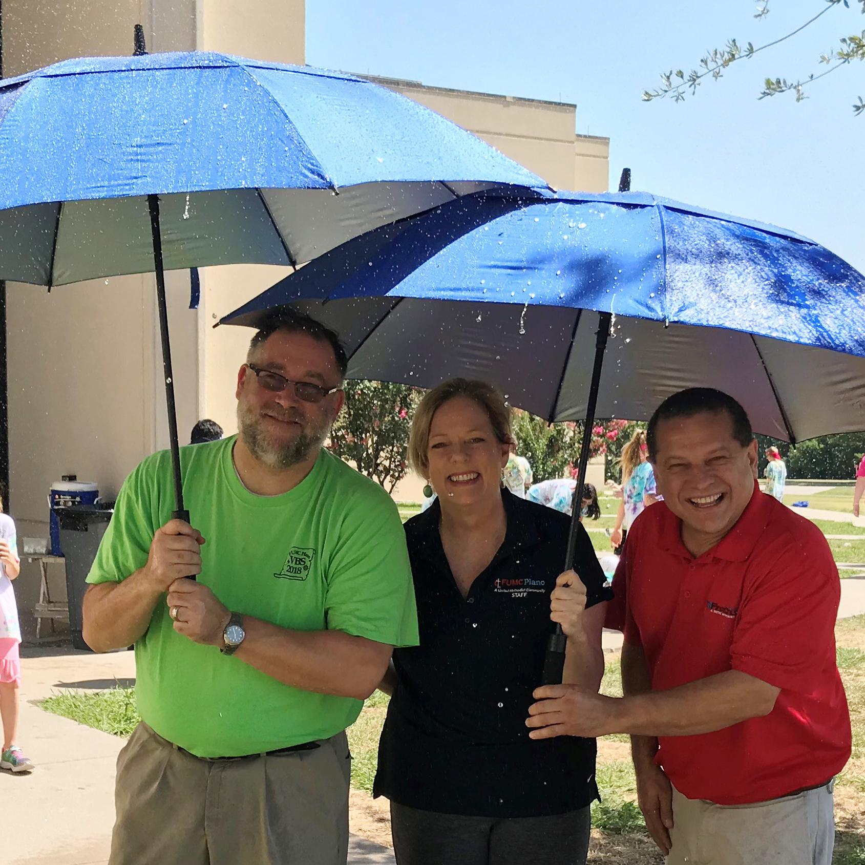 Our Hospitality Team also purchased beautiful BIG umbrellas for our Connectors to use on rainy days to welcome our guests and church members.