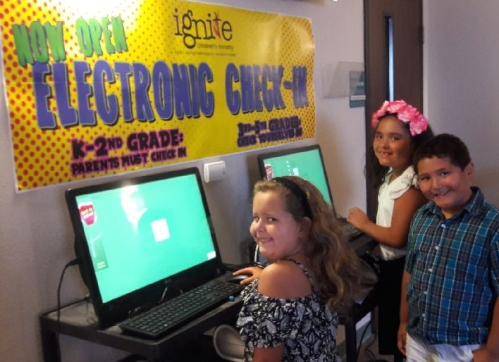 Providing a safe environment for our children to learn and grow in their faith is so important. Ignite Children's Ministry is excited to introduce the new electronic check-in system upstairs for our children! This was one of the suggestions offered during our secret shopper evaluation of the Healthy Church Initiative.
