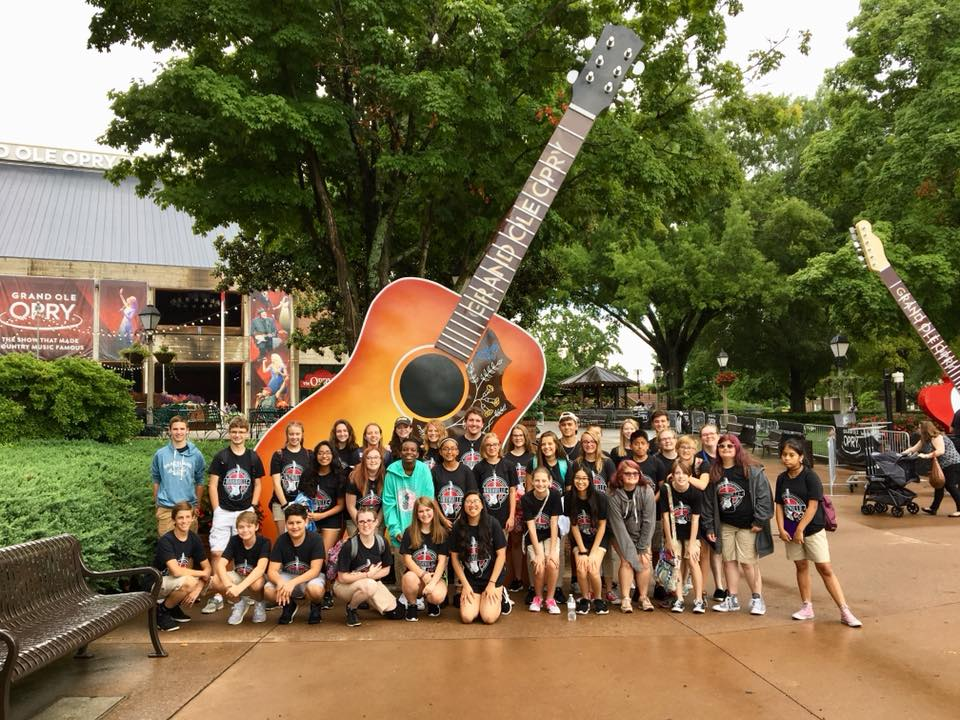 This summer our Crossfire Youth Choir went on choir tour to Nashville, TN, with a stop at the Grand Ole Opry.