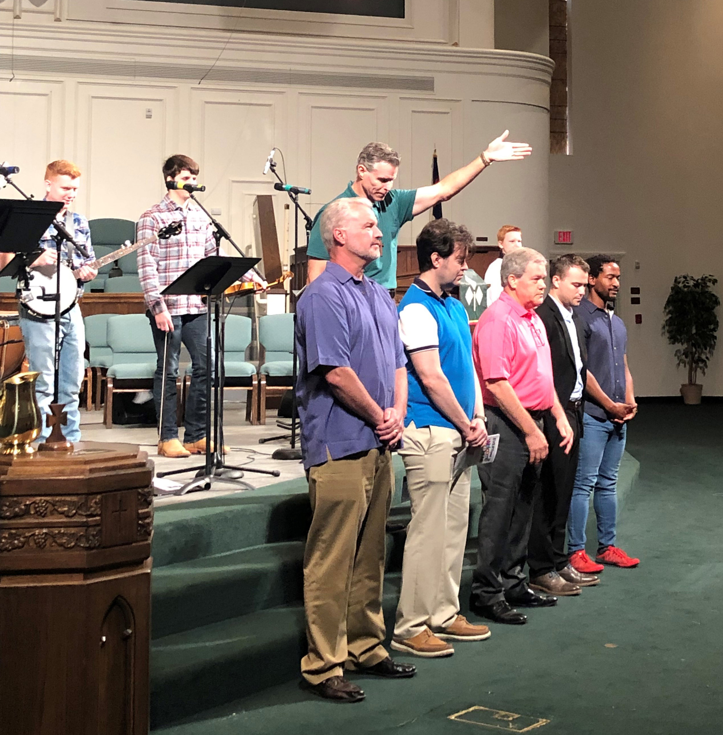 Our Honduras Mission Team: Mark McLain, Kevin Davenport, Alan England, Will McLain,, and Nigel Eastman. They will travel to the La Mosquitia region of Honduras July 28-Aug. 4.