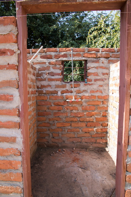 Ranger station's outside toilet and showers