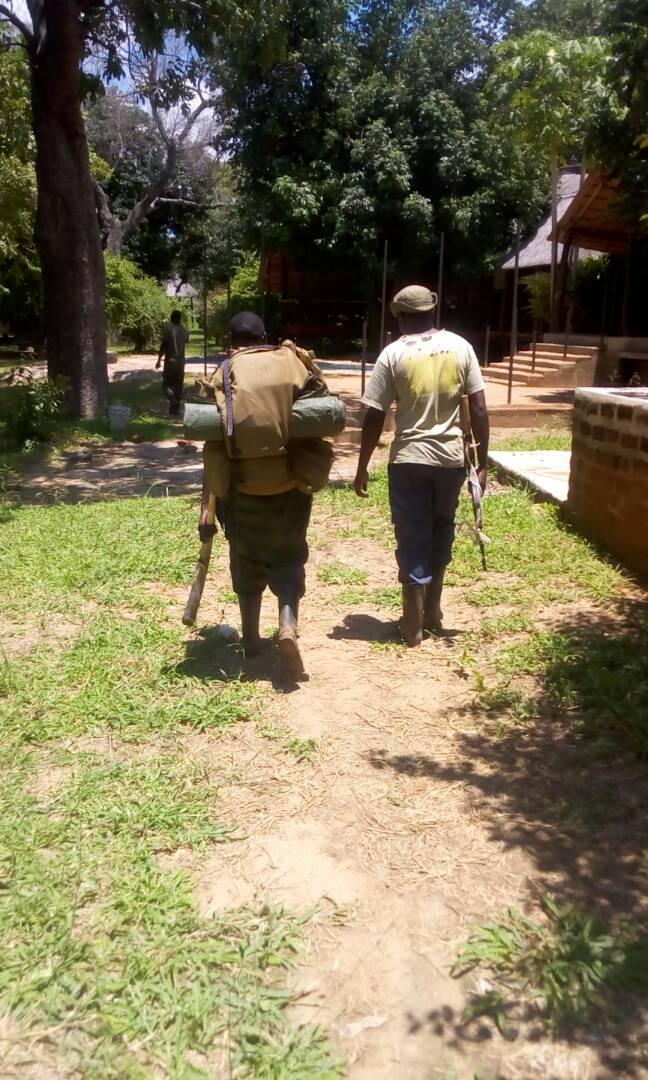 Rangers on foot
