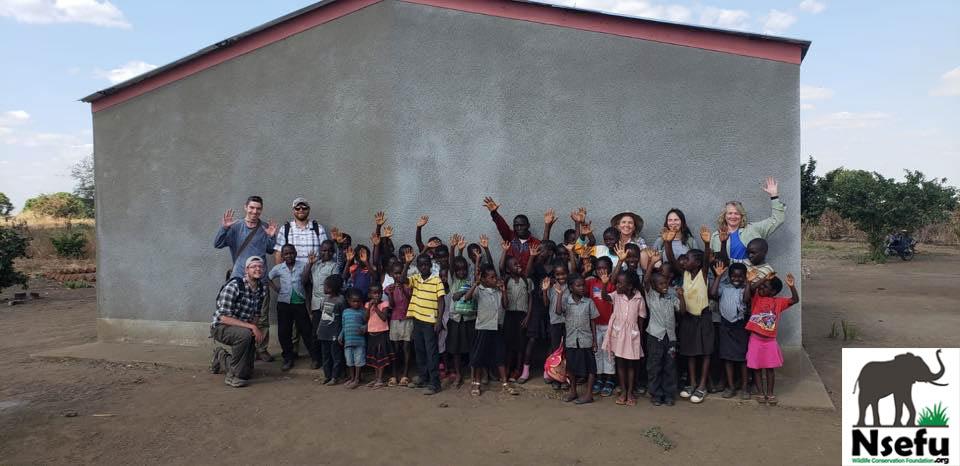 Chabwela students with NAU Staff & Students