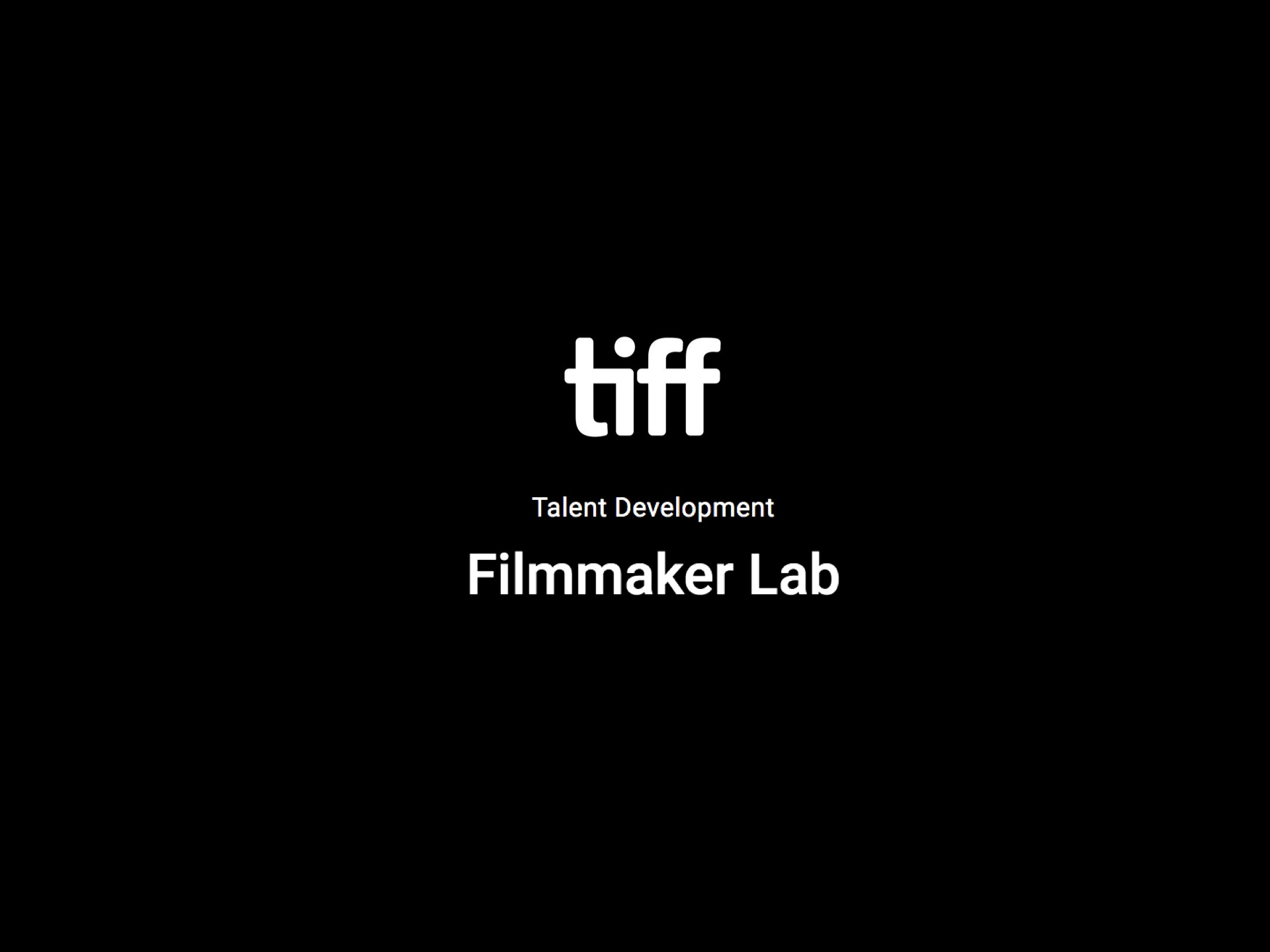 It's a Sad and Beautiful World  selected at the TIFF Filmmaker Lab, Fall 2019