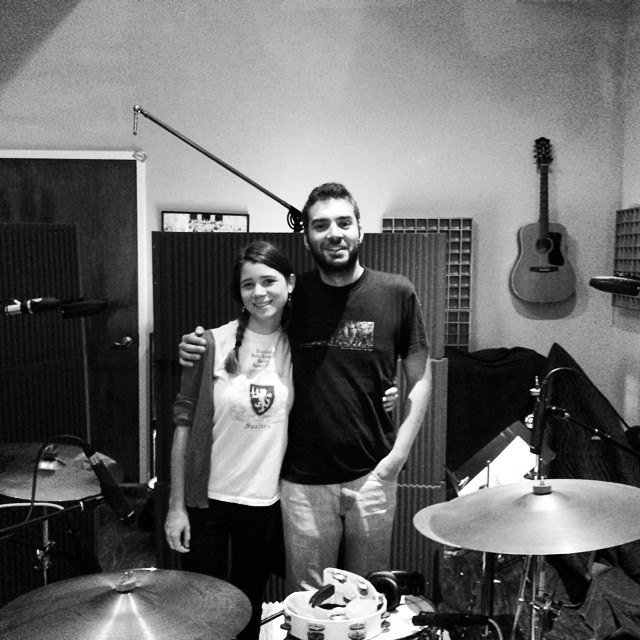 Back at it with @ladylamb and @_marcobuccelli_ on the drums. #albumtwo #drumtracking