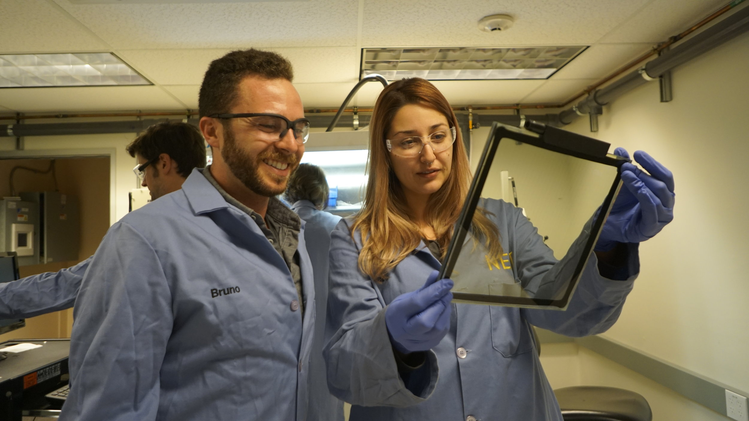 NEXT's Engineers assess a functional prototype in its Santa Barbara, CA lab.