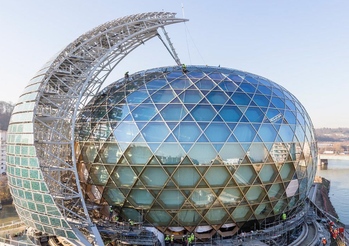 The stunning La Seine Musicale in Paris, featuring PV glass manufactured and installed by ISSOL.