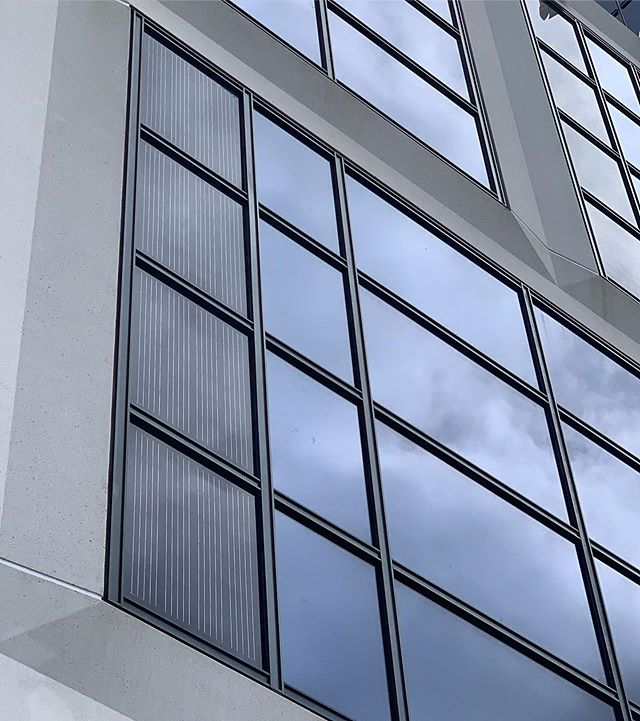 About as integrated as you can get. These #unitizedcurtainwall assemblies are UL2703 and UL1703 Listed.  The first of their kind. Each lite is fully insulated to meet the demands of the California building code while also providing energy.  #bipv #bipvsolutions #bipvcurtainwall #5901sunset #gensler #architecturalsolar #waltersandwolf #solarenergy #solarenergysystem #pv #photovoltaic #photovoltaicglass #pvglass