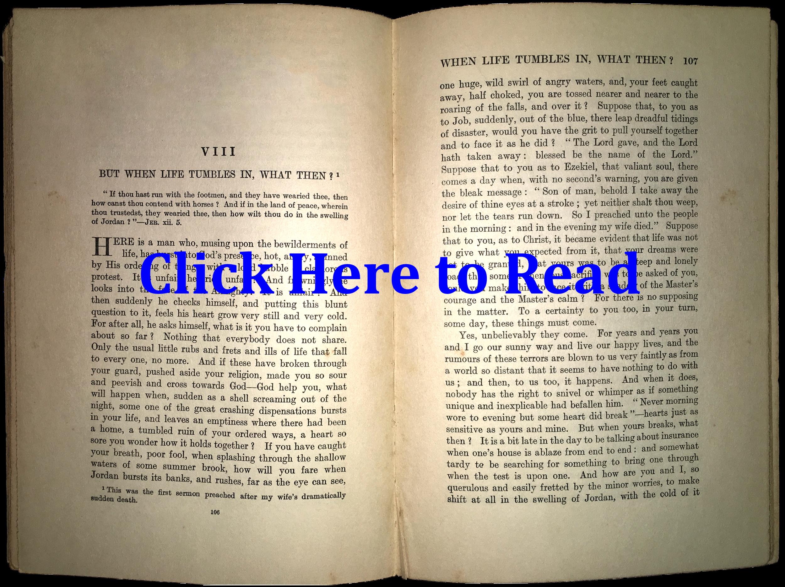Click the Book to Read the Sermon