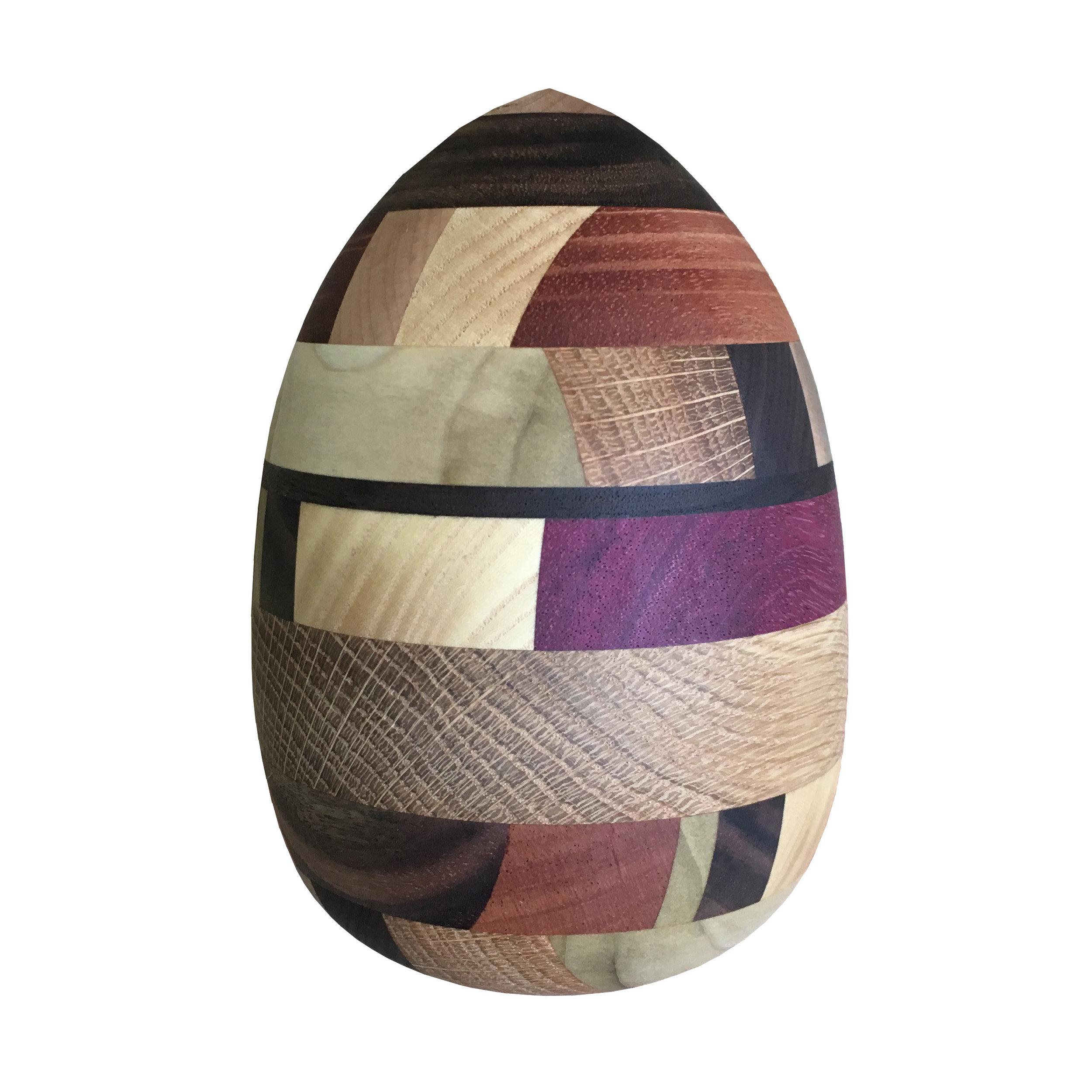 color egg, multiple woods, 2017