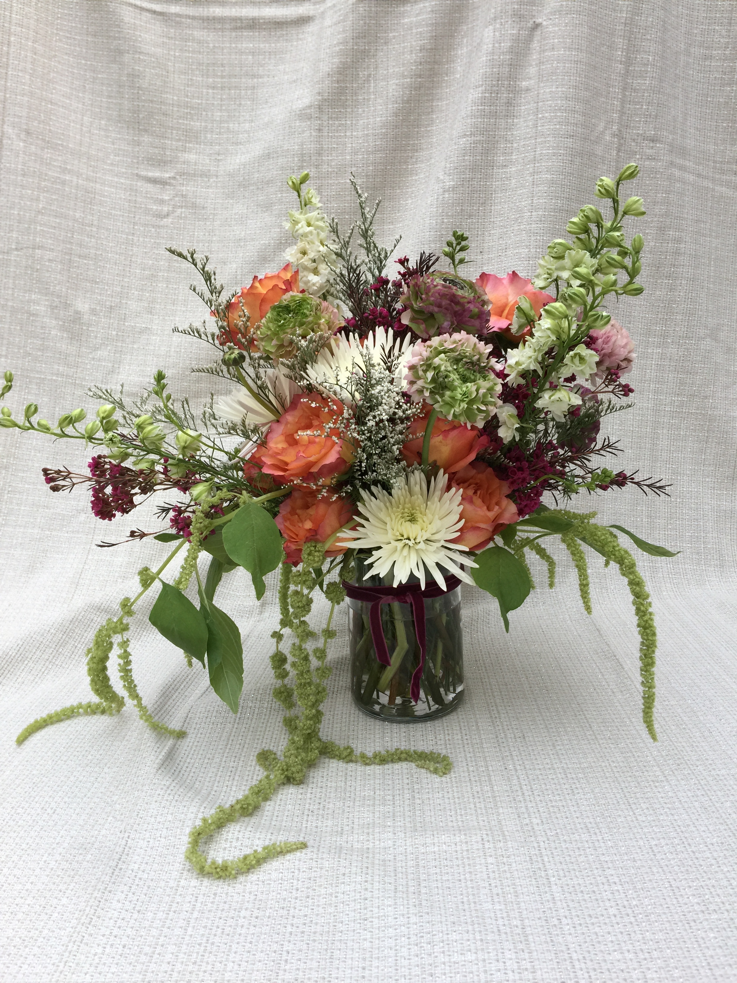 customer said she liked basic flowers... I don't know what basic means ... turns out she loved it!
