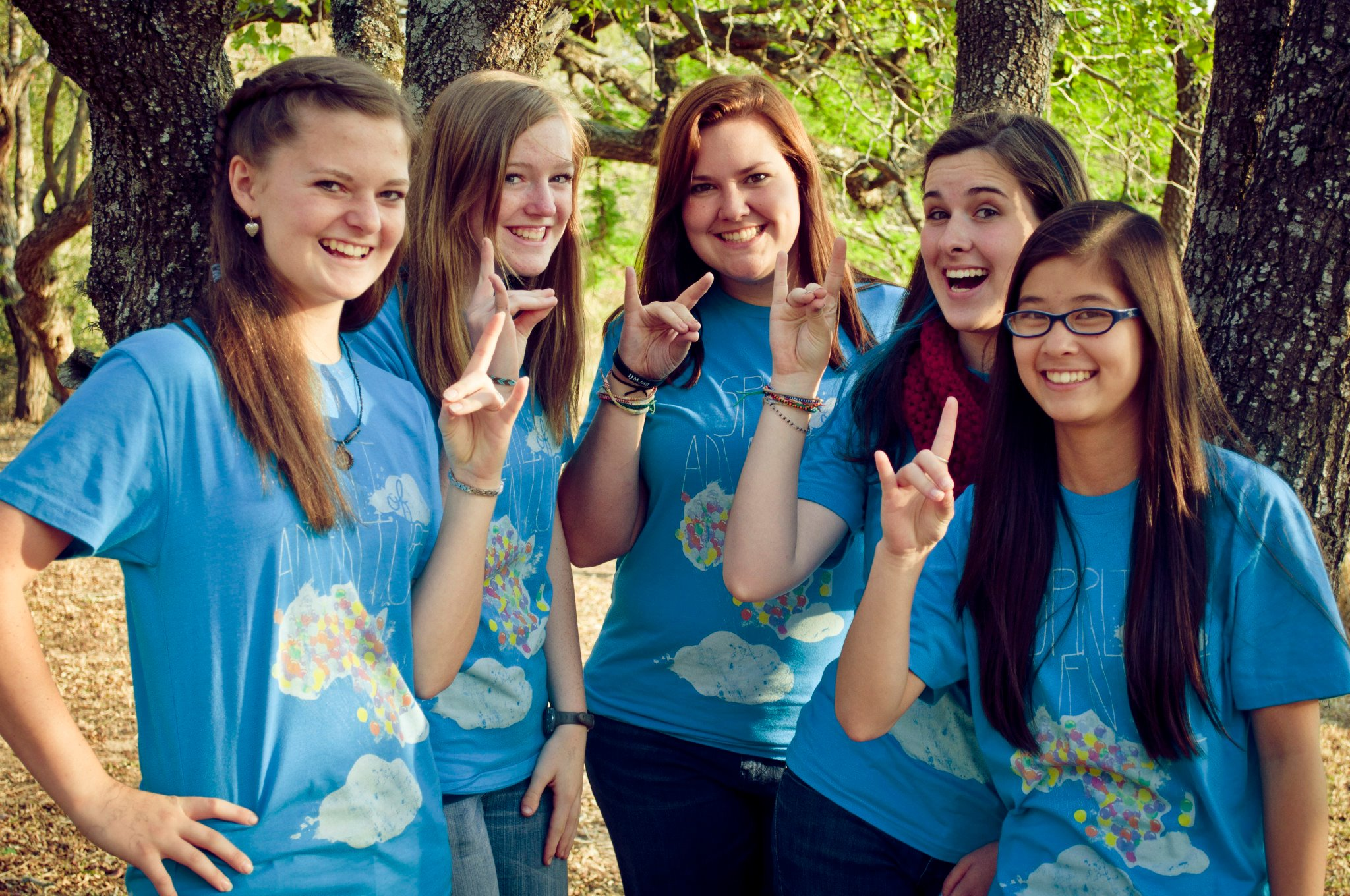 Katie (middle) with her small group during her 2012 Internship.