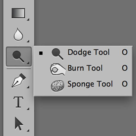 The Dodge Tool blocks the light of the enlarger from reaching the photo paper, thus a lighter result on the final image. The Burn Tool blocks the light where your hand would be, but allows more light to hit the photo paper through the hole made with the fingers ending up with a darker result on the final image. Does this seem backwards to you? It should and that's why the original recording of the image is on a negative. Cool, huh?!