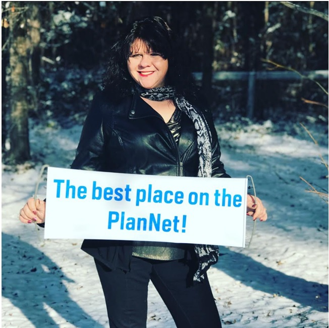 PlanNet Director-in-Training Brandy Lynn W. (Macon, GA) at High Falls State Park in Jackson, GA