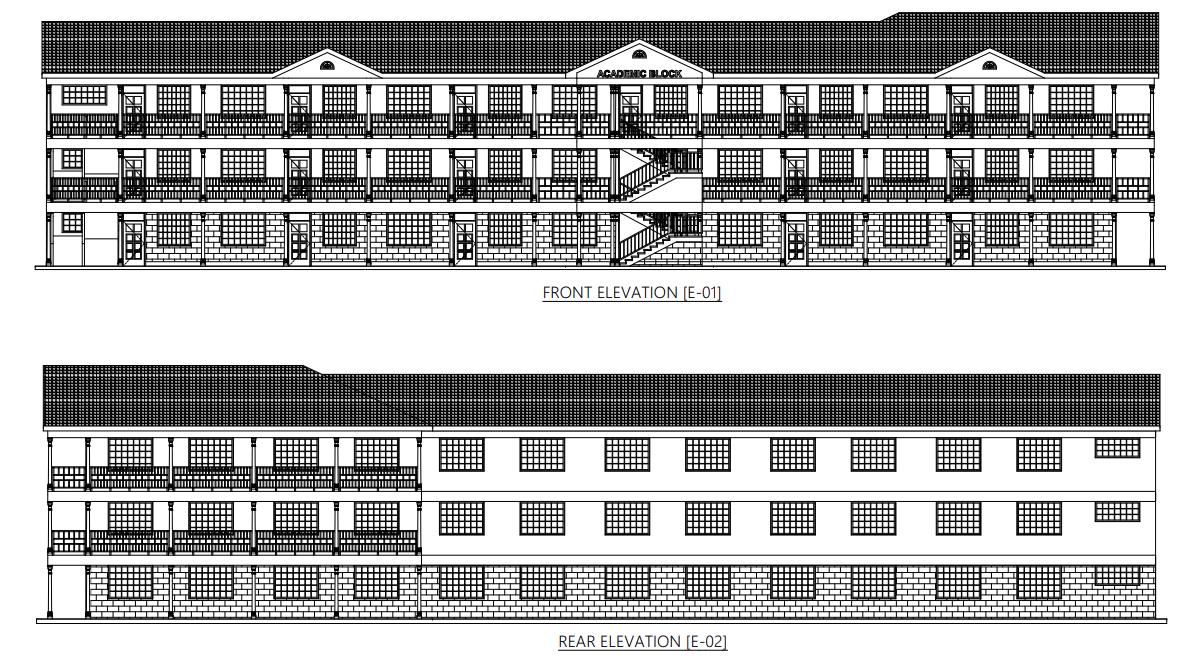 - BUILD:THREE STORY SCHOOL