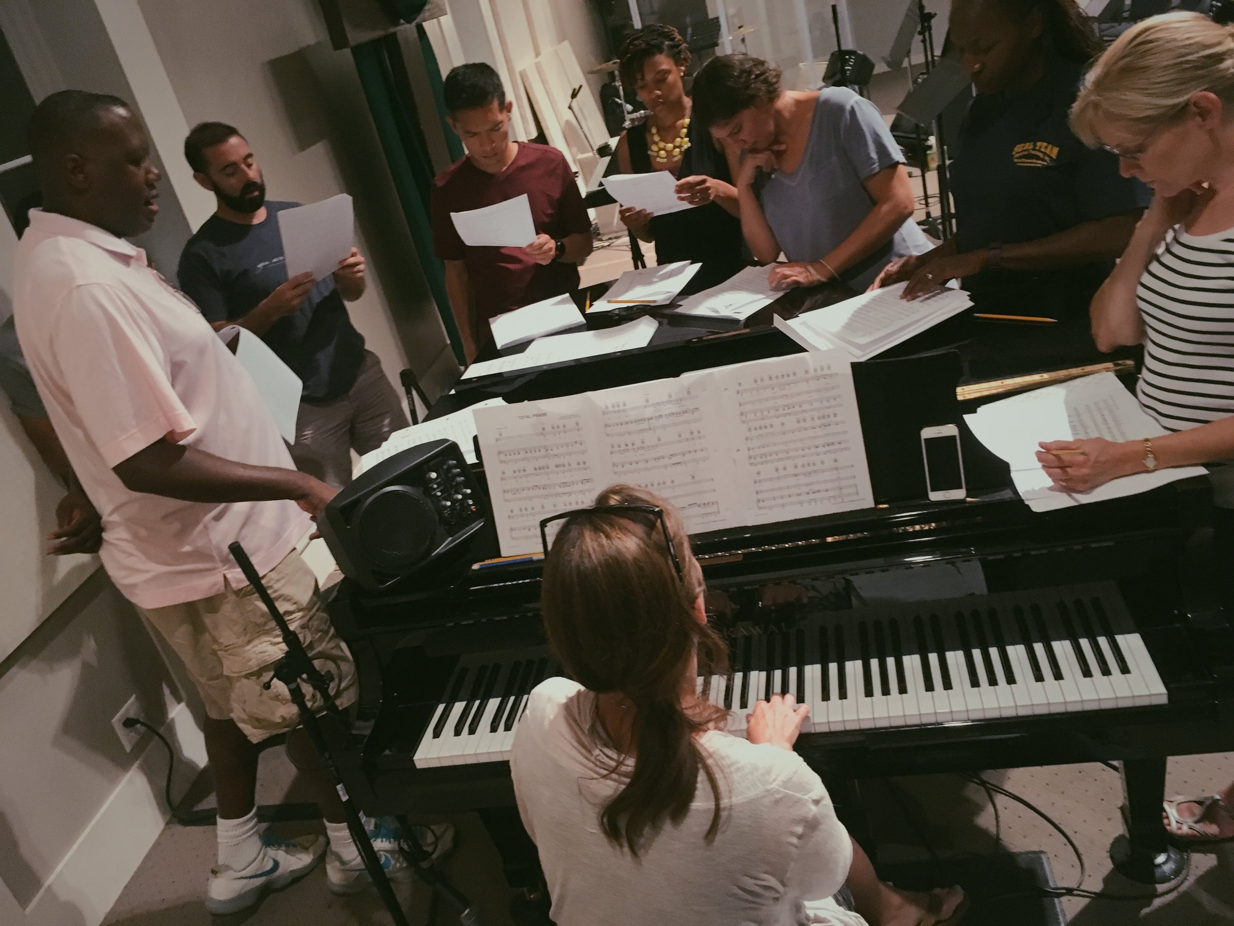 One of many small group rehearsals with the choir for our Night of Hope and Reconciliation: For the City, Through the Arts.