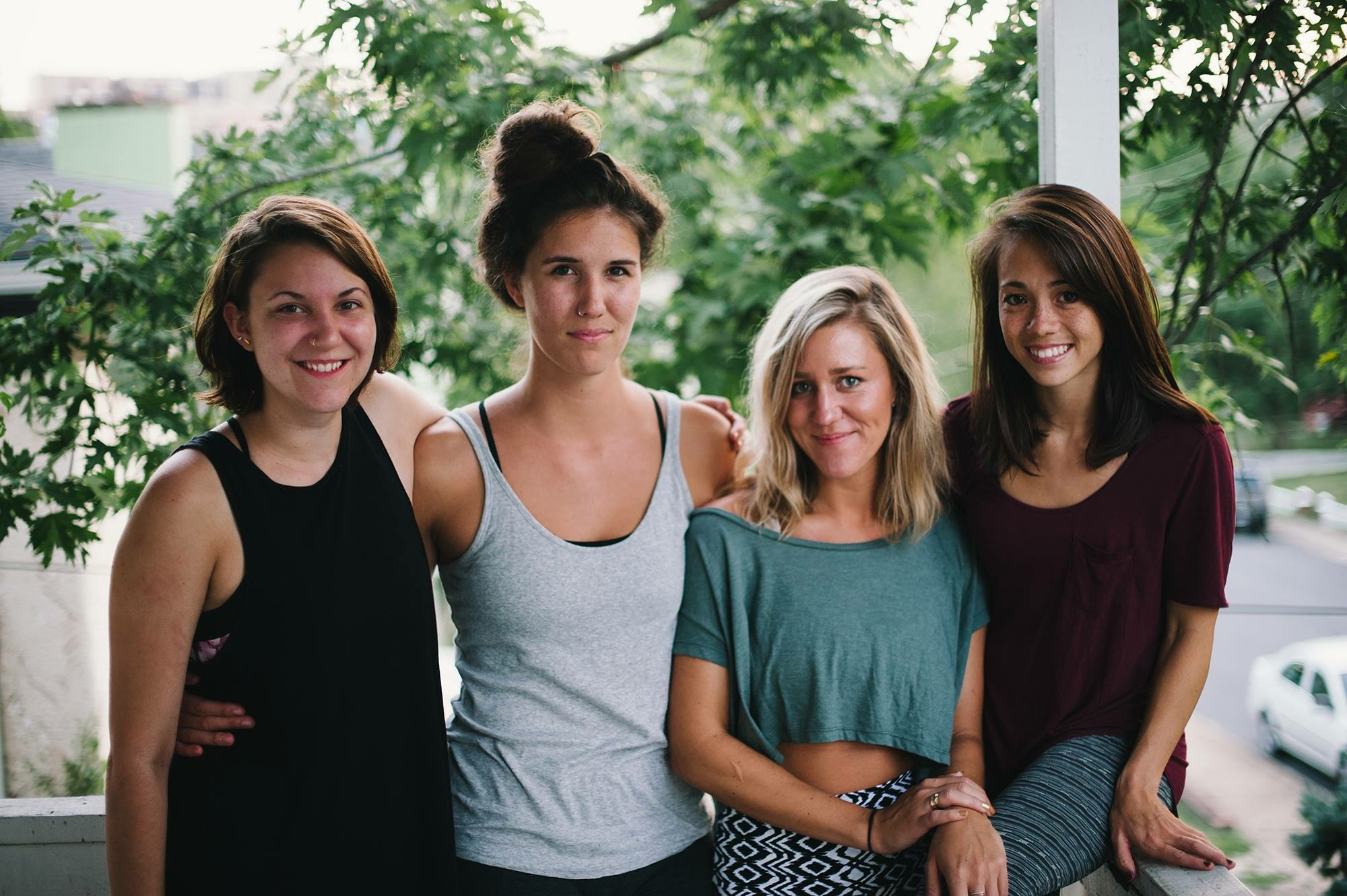 Dancers Sarah MIcoch, Lauren Stonestreet, Linnea White, and Becca Lee.