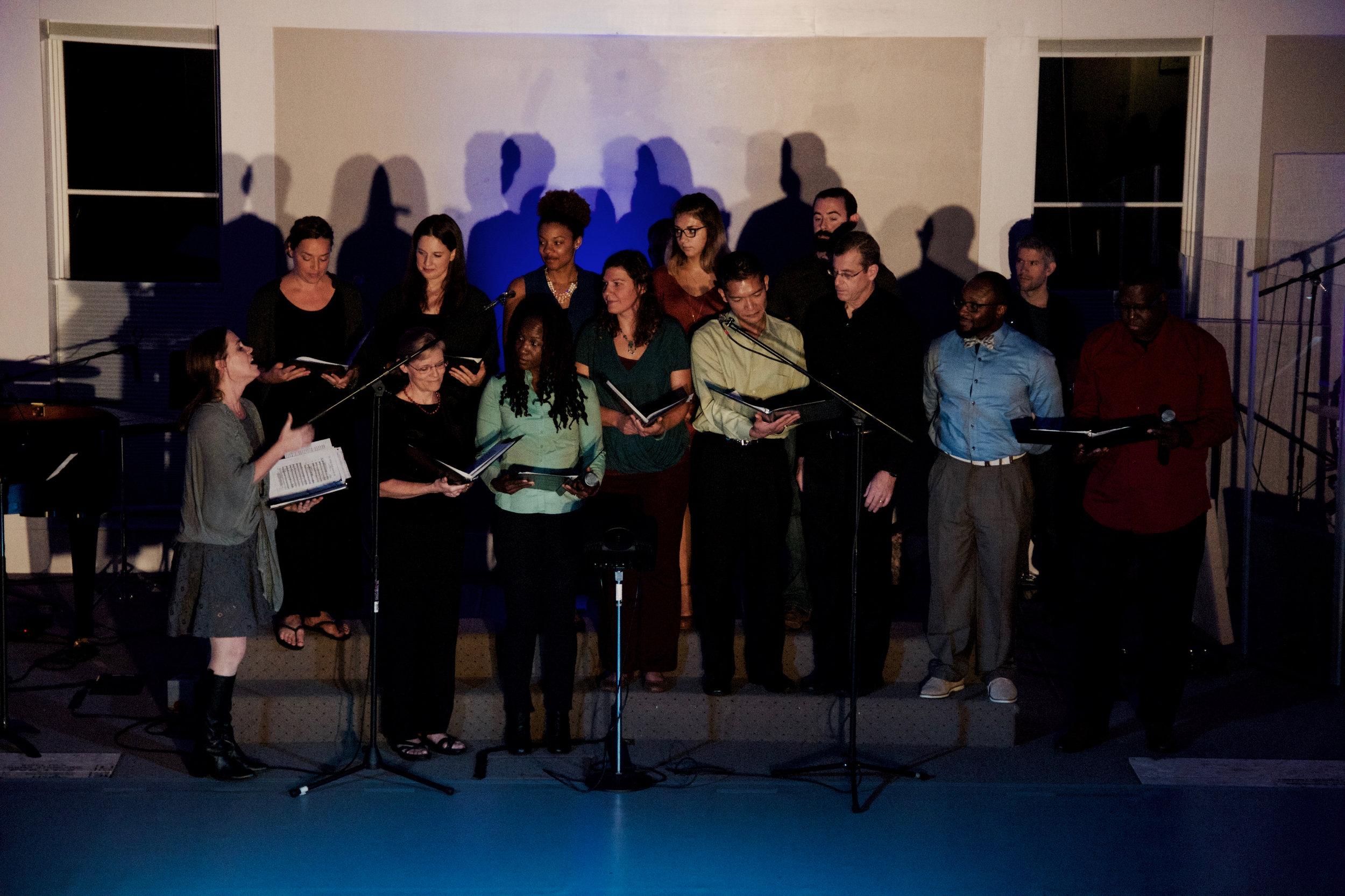 Full choir leading  Never Turn Back No Mo.